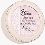 Cottage Garden Sweet Sixteen Ivory Tiny Round Treasure/Keepsake Box