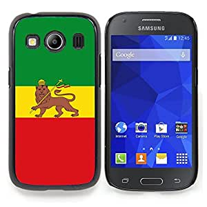 "Qstar Arte & diseño plástico duro Fundas Cover Cubre Hard Case Cover para Samsung Galaxy Ace Style LTE/ G357 (Rasta Bandera Majestic"")"
