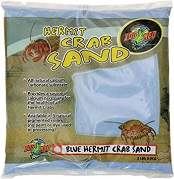 Zoo Med Laboratories SZMHC2Y Hermit Crab, 2-Pound, Sand Yellow 976005