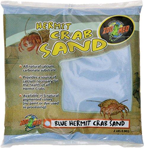 - Zoo Med Laboratories SZMHC2B Hermit Crab, 2-Pound, Sand Blue