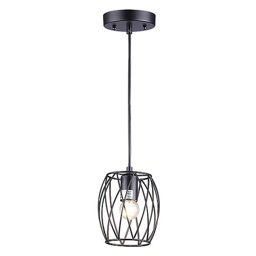Amazon.com: Cuaulans - Lámpara de techo colgante de metal ...