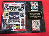 2016 Indians American League Champions 2 Card Collector Plaque w/8x10 Composite Photo
