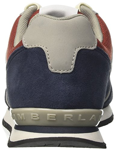 Timberland Men's Retro Runner Oxtotal Eclipse Hammer Suede Oxford, Blue/Red Multicolored (Total Eclipse Hammer Suede)