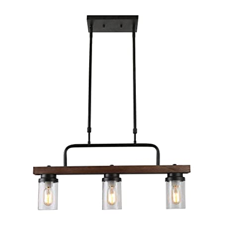 Charmant Anmytek Kitchen Island Pendant Lighting With Bubble Glass Shade Industrial  Rustic Chandelier Retro Ceiling Light Or