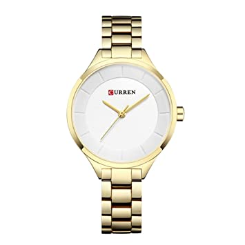 WZFCSAEAE Rose Gold Watch Relojes Mujer Acero Inoxidable Ladies Reloj Mujer 2018 Luxury Gold Color Fashion
