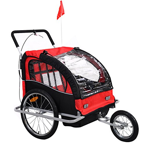 2 Child Bike Trailer Stroller - 8