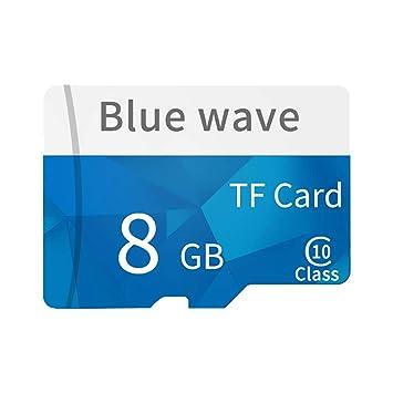 Daliuing Tarjeta Micro SD de 8GB 10 Clase 90MB / s Tarjeta de Memoria SchSD MicroSD con Adaptador SD, para Tarjeta de Memoria de Video HD