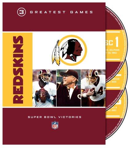 NFL: Washington Redskins - 3 Greatest Games (Redskins Dvd Washington)