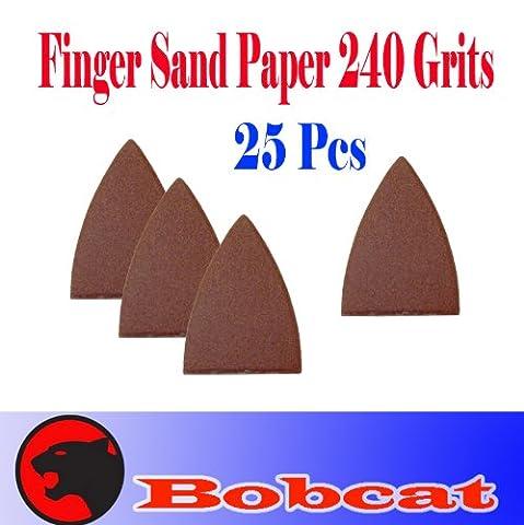 Pack 25 Sandpaper 240 Grits Sand Paper Finger Detail w/ loop backing for Fein Multimaster Bosch Multi-x Craftsman Nextec Dremel Multi-max Ridgid Dremel (Bosch Multi Sander)