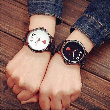 2016 reloj de pulsera de la moda par de relojes mujer de los hombres de fruta