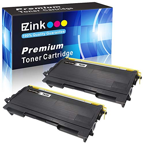 E-Z Ink (TM) Compatible Toner Cartridge Replacement for Brother TN350 TN-350 TN 350 to use with Intellifax 2820 Intellifax 2920 HL-2070N HL-2040 DCP-7020 MFC-7820n (Black, 2 Pack) ()