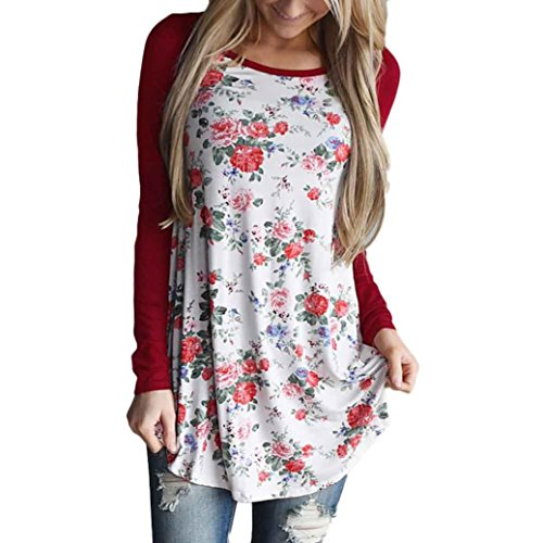AIMTOPPY-Fashion-Women-Long-Sleeve-Floral-Striped-Splicing-O-Neck-T-Shirt-Blouse