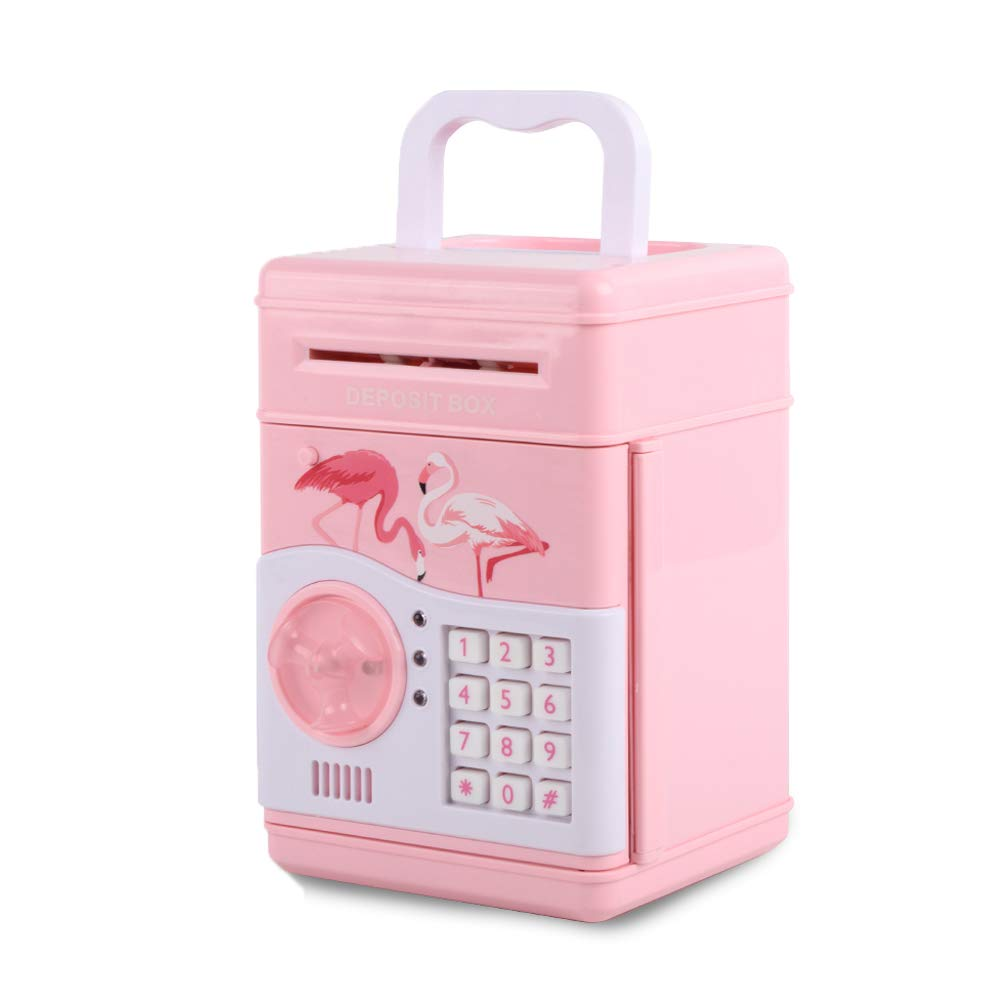 BENHOM Gift Toys Children's Code Electronic Safe Banks Mini ATM Electronic Piggy Bank Boxed Children's Combination Lock with Music