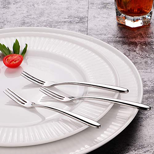 TPOHH 10/8 Stainless Steel Dinner Forks, Mirror Polished Flatware Dessert Fruits Forks for Use for Home, Kitchen or Restaurant, Set of 1