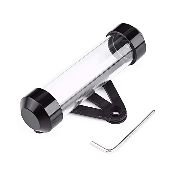 Silver Bobina de impuesto de seguridad de motocicleta universal Cil/índrico transparente con marco de soporte impermeable