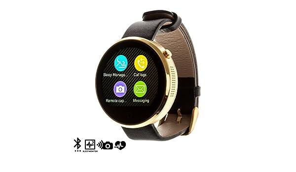 DAM DMQ240 - Reloj con Bluetooth, Color Dorado: Amazon.es: Electrónica