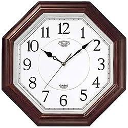 Casio analog interior clock concentrated tea tree tone IQ-123-5JF