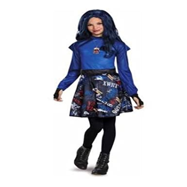 descendants evie classic child halloween costume bonus evie heart necklace and gloves small 4