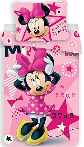 character Disney Minnie Mouse 'A True Star' Duvet Cover + Pillow Cover 140x200cm Single bed Cotton (Exclusive)