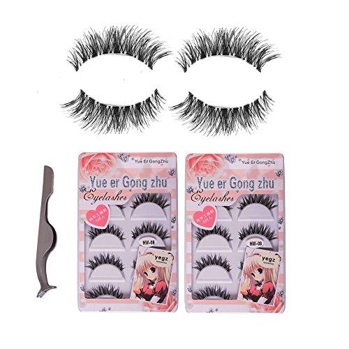 Teenitor 10 Pair Crisscross False Eyelashes Lashes, Nature Looking Fake Eyelashes Set For Women Girls, Comes With Free Fake Eyelash (Cross Eyelash)