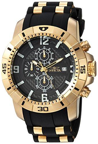 Invicta Men s Pro Diver Quartz Watch with Stainless-Steel Silicone Strap Blue Black