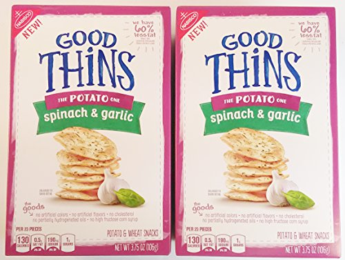 Nabisco Good Thins Potato Snacks - Spinach & Garlic, 2 Pack, (3.75 oz. Each)