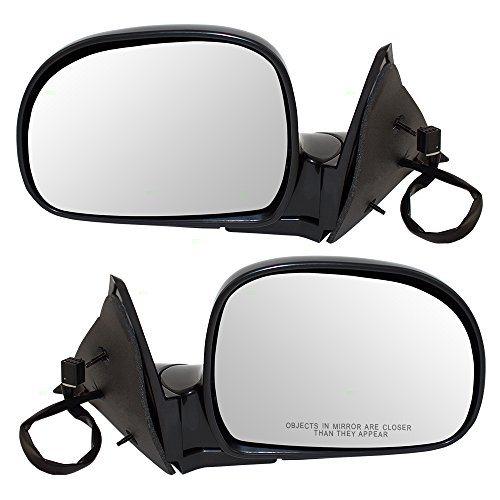 Driver and Passenger Power Side View Mirrors Replacement for Chevrolet GMC Isuzu Pickup Truck SUV 15151117 15151118