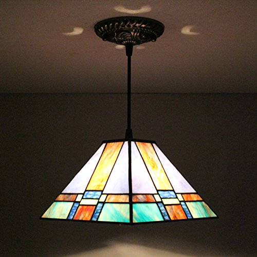 Geometric Stained Glass Chandelier - TOYM US-8 inch Tiffany European creative geometric glass chandeliers