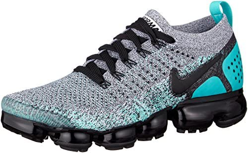 Nike Men's AIR Vapormax Flyknit 2, White/Black-Dusty Cactus, 8 M