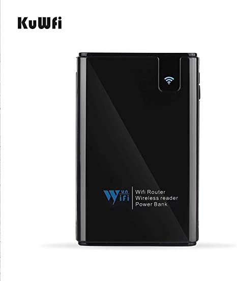 KuWFi Inalámbrico Compartir Datos Power Bank Travel Router ...