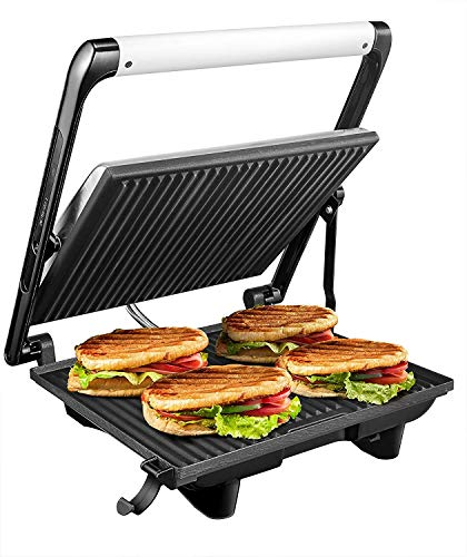 Panini Press Sandwich Maker AICOK 2019 【Upgrade Model】 3 in 1 Stainless Steel Grill, 11.6