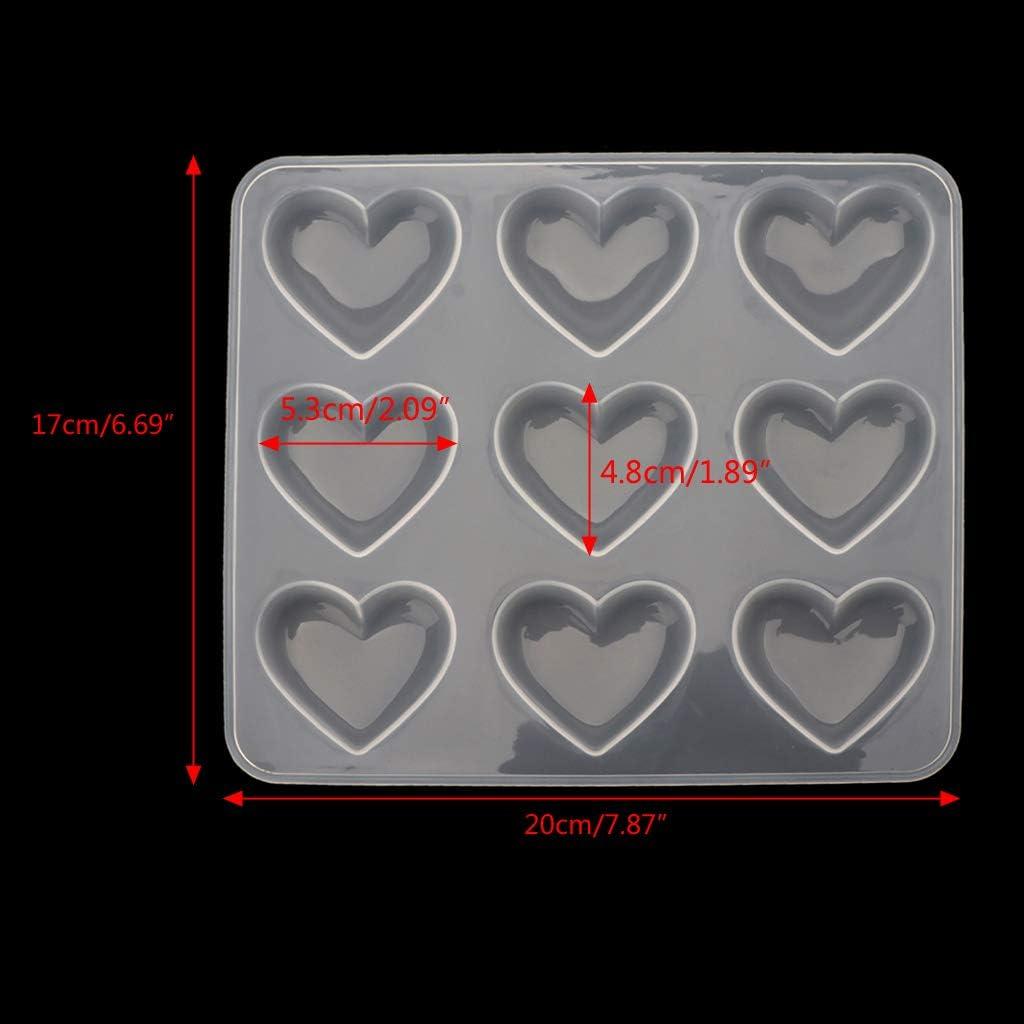 Tvvudwxx Moule en silicone pour bijoux moulage en forme de c/œur en r/ésine /époxy