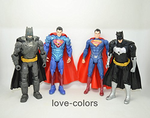 "L Lot 4 pcs New Batman v Superman: Dawn of Justice PVC Action Figures Toy 6"" Gift"