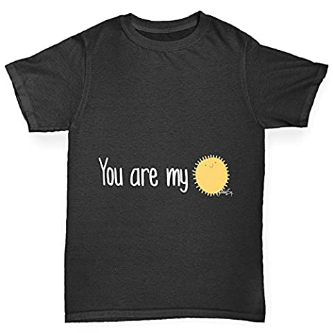 Twisted Envy Boy's You Are My Sunshine Cotton T-Shirt, Comfortable and Soft Classic Tee with Unique Design Age 12-14 (Return Labels For My Orders)