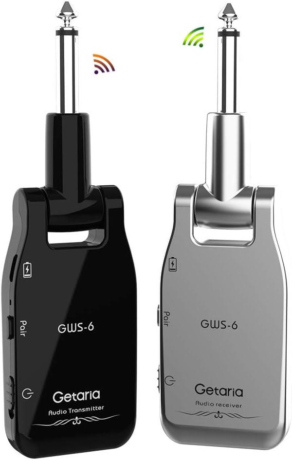 Getaria Guitarra Inalámbrico 2.4GHz Receptor Transmisor Sistema Inalambrico para Guitarra Electrica