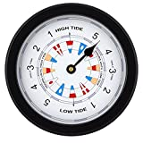 JUSTIME 8.5 Inch Atlantic Tide Clock Colorful Digital Graphics Designed, Quality Plastic Water Resistant Case, Home Wall Décor (TT020-Flag Black)