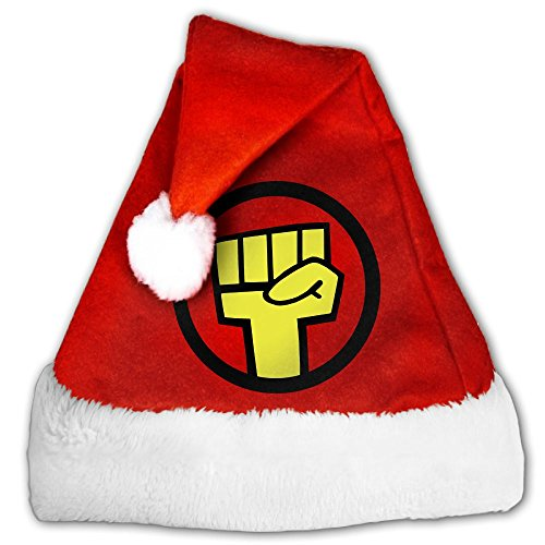 Gorillaz Band Logo Fashion Decoration Christmas Santa Claus Hats Red For Adults And Kids (Mtv Songs Charts Christmas)