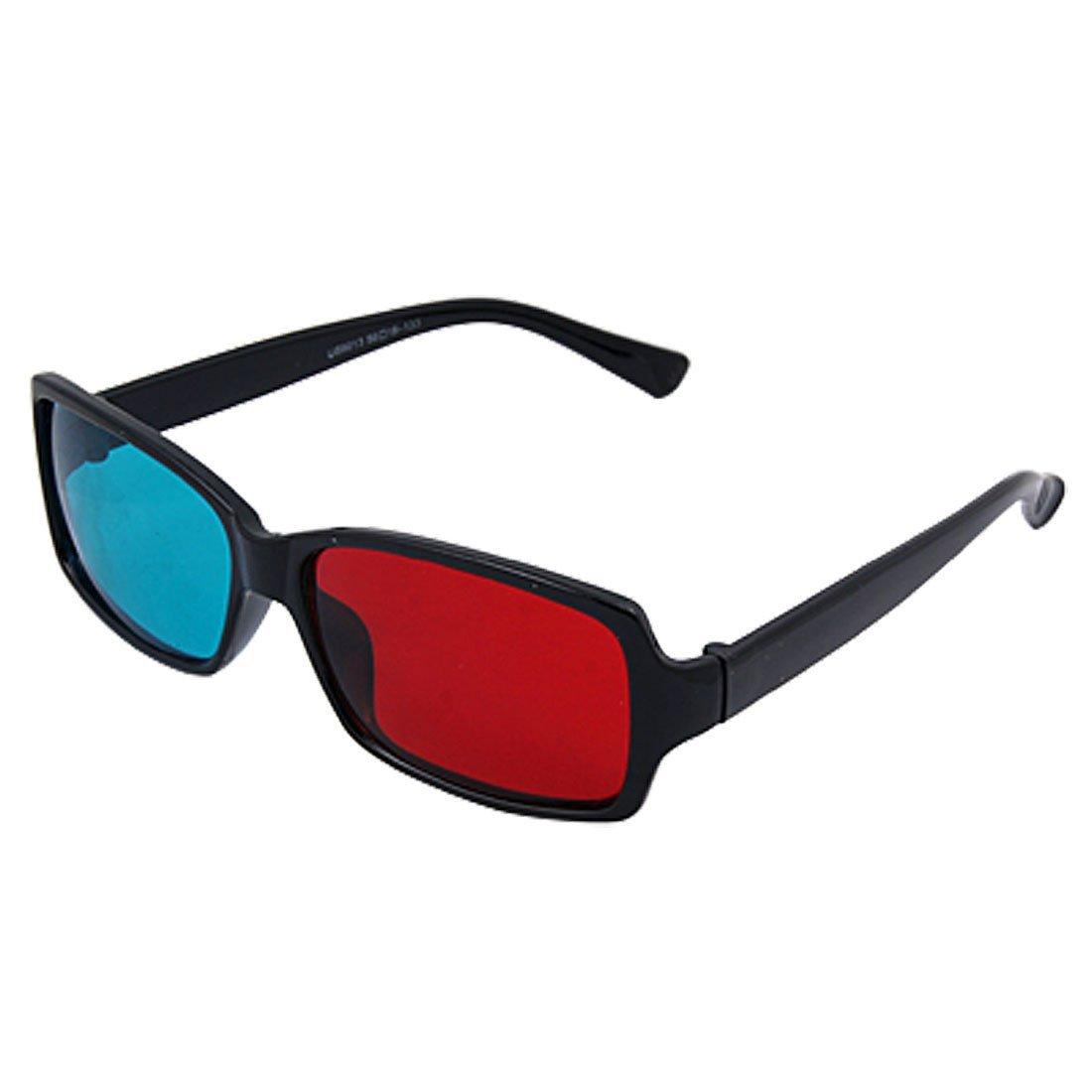 Negro lleno-borde rojo-cian gafas anaglifo 3D para el juego de la ...