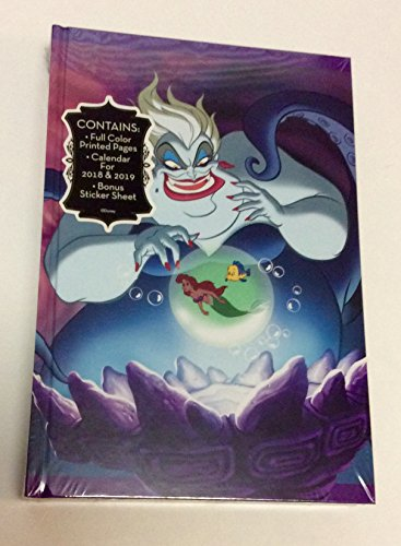 Maleficent Ursula Journal with Calendar for 2018 and 2019 and Bonus Stickers Disney Villains -