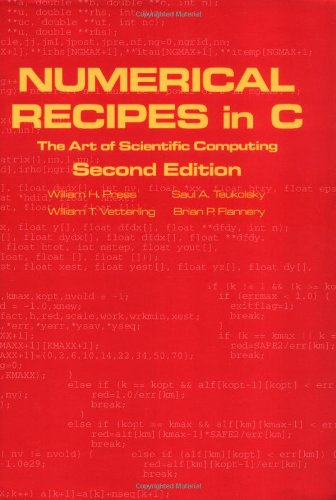 Numerical Recipes in C: The Art of Scientific Computing, Second Edition