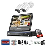 SANNCE 4CH 1080P Lite Surveillance Video Recorder and 2x1500TVL Bullet House Security Camera and 1TB Hard Drive, Customer Motion Detect,Email Alarm,Phone Access