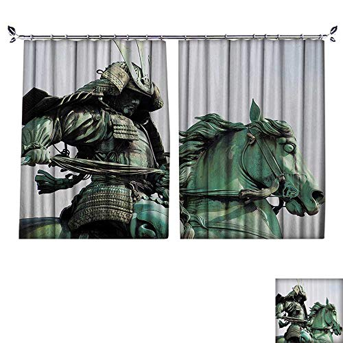 DESPKON Decoration Polyester Material Samurai Warrior Riding Horse Sculpture in City Park in Tokyo History for Children's Room W72 x L84