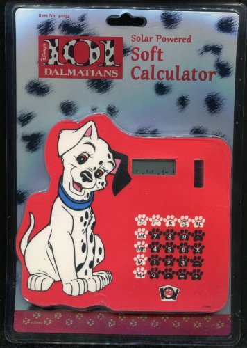 Disney 101 Dalmatians ** Solar Powered Soft Calculator ** Rare 1996