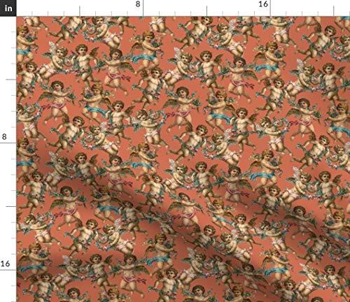 (Spoonflower Cherub Fabric - Cherub Angel Baby Vintage Cherub Angel Renaissance Baroque Fresco Romantic Vintage Rococo by Elliottdesignfactory Printed on Petal Signature Cotton Fabric by The Yard)