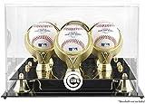 Chicago Cubs Golden Classic Three Baseball Logo Display Case