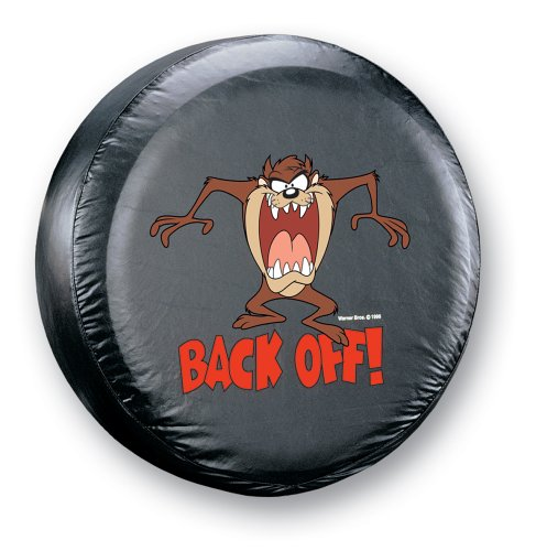 "Taz ""Back Off!"" Spare Tire Cover made our list of gift ideas rv owners will be crazy about that make perfect rv gift ideas which are unique gifts for camper owners"