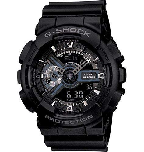Casio G-Shock X-Large Display Stealth Black Watch (GA110-1B) - Water and Shock - 60 Electronic Meter Mm