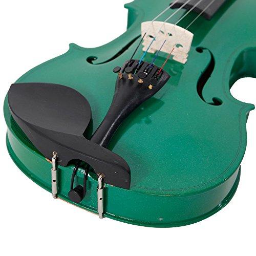 Lovinland 4/4 Acoustic Violin Green Beginner Violin Full Size with Case Bow Rosin by Lovinland (Image #5)