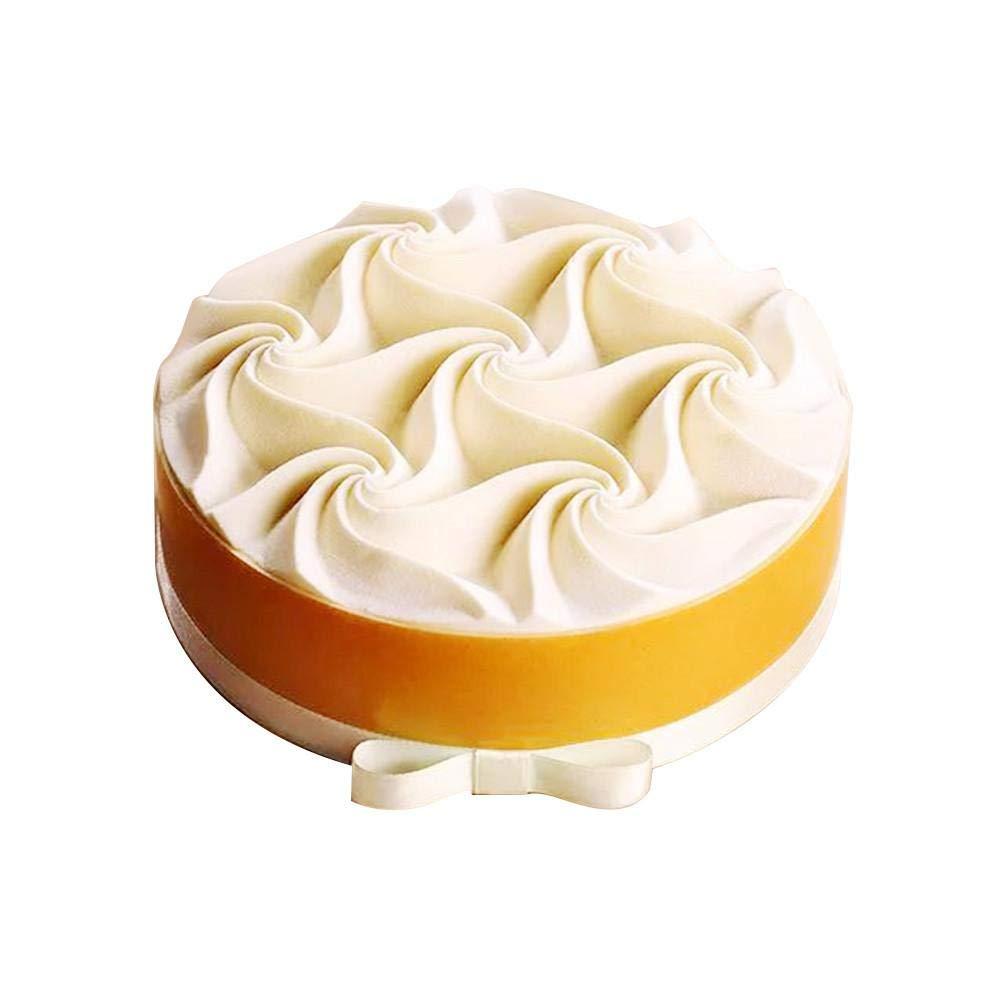 Luminiu Silikonform,Spirale Blume Mousse Kuchen Silikonform Backen Dekoration Franz/ösisch Dessertform 8