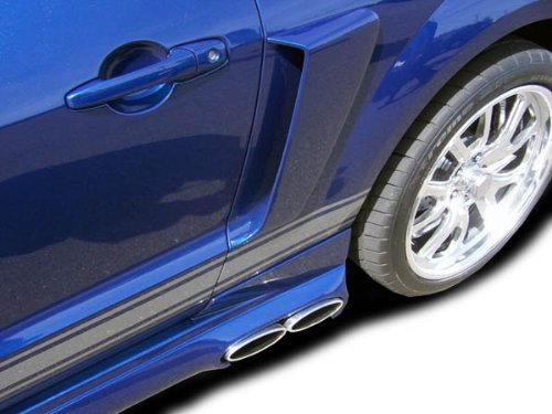 [2005-2009 Ford Mustang Duraflex CVX Side Scoop - 2 Piece] (Ford Mustang Side Scoop)